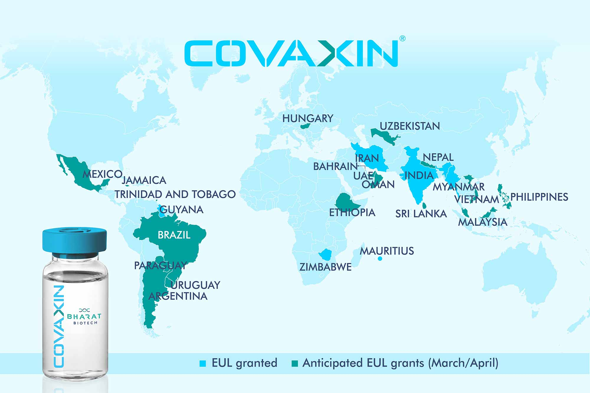 Covaxin world map